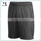 wholesale athletic wear 2016 new design polyester dry fit heathered color training shorts