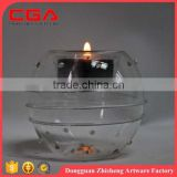 Customized glass candle holder weeding decoration fstival ornament