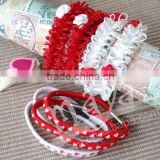 New style Valentine's Day Elastic Hair Bands for babies and girls wholesale manufacturers