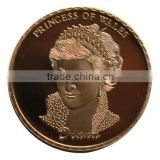 Gamfook classic fancy europe style commemorative coin, Princess Diana artwork souvenir coin