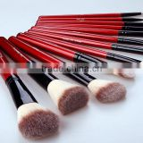 12Pcs red Eyeshadow Cosmetic Makeup Brushes Set Brush Soft