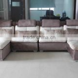 Nice comfortable U-shaped fabric or leather corner sofa (NY1688)