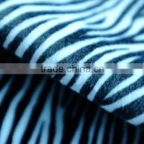 faux zebra fur plush fabric