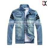 2015 hot motorcycle jacket leather jacket for man adult denim jacket (JXW803                                                                         Quality Choice