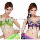 Cheap new style hot selling fashion shinning sexy sequin beading belly dance bra (QC8012)