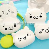 2016 Hot Sale Promotion Silicone Emoji Coin Purse Rubber Squeeze Coin PurseCustom Printing Silicone Coin Purses