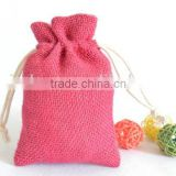 Colorful Small Drawstring Jute Pouch, jute jewelry pouch jute bag wholesale (20150730J101)