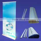 Luxury full aluminum water drop roll up banner stand, broad and wide base roll up display