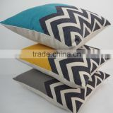 Custom zigzag print throw pillows cover decorative outdoor chair cushions for kitchen chairs