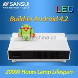 Perfect Build-in Android 4.2 20000Hours Lamp Lifespan LED Android 4.2 Wifi portable mini multimedia projector 720p