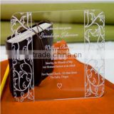 2015 clear lucite invitations/acrylic wedding invitation/acrylic wedding invitation card