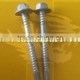 AS 3566 Indented Hex Flange Washer Head Double Thread Grip on Shank BSD Thread EPDM Washer Self Drilling Screw