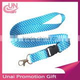 Hot sale bulldog clip lanyard with safety breakaway