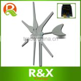 Small wind generator 12V/24V wind power generator for home use+wind/solar hybrid controller(LED display)