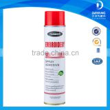 Spray adhesive glue for embroidery and garment