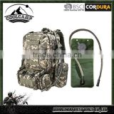 Military travelling hunting camo bag with 2.5L Hydration 3 Molle Bags Hiking Backpack with water bladder luggage