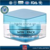 30g blue color top material square plastic jar, acrylic cream bottle,with shiny silver cap