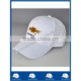 hot selling white cotton twill six panel embroidery logo baseball cap
