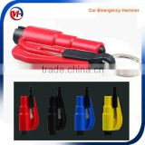 Exlight Mini Emergency Car Escape Hammer, Key Chain Seat Belt Cutter Car Window Breaker Safety Hammer