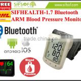 SIFHEALTH-1.7 Bluetooth Arm Blood Pressure Monitor, Large LCD Display, CE Blood Pressure Monitoring System