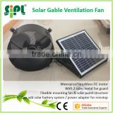 SUNNY FAN Solar Panel Powered DC Wall Mounted Gable Air Exhaust Factory Fan Turbo Ventilator for Fresh Air Ventilation