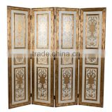 Antique Wooden Curio Floor Screens, Luxury Gold Painting Decorative Folding Screen, Classical Furniture Wood Carved Screen