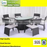 Outdoor furniture 2015 new design morden dining table and dining chairs garden dining set