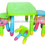 carton style colorful plastic kids table and chair set