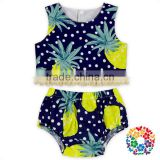 Infant And Toddler Summer 2 Pieces Outfits Baby Set Pineapple Designer Clothing