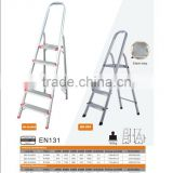 Steel step aluminum ladder