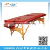 New Burgundy Portable Massage Table w/Free Carry Case Chair Bed Spa Facial