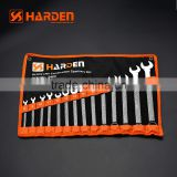 PROFESSIONAL 14PCS COMBINATION WRENCH SET SINGLE OPEN END SPANNER