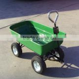 250kg plastic wagon cart, green color wagon cart