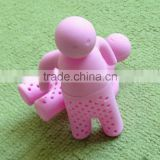 Creative product HUMAN shaped portable silicone tea infuser household item