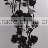 Black Artificial Dried Rose Flowers Various Styles for Home or Party Decor