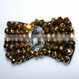 wholesale crystal bow shoe garment decoration accessories handmade crystal beaded bowknot shoe clips from Miss Luv