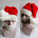 Hot Christmas hat autumn and winter in Europe and America's foreign trade AliExpress bearded hat handmade knitted hat
