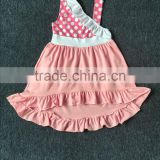 new style polka dot frock design for kids baby girl cotton dresses in summer
