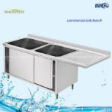 Cabinet Double Bowl Popular Stainless Steel Kitchen Sink Bench