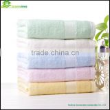 Bamboo Face Towel for Promotion solid color plain dyed 100% bamboo fiber Compressed Organic bamboo towel