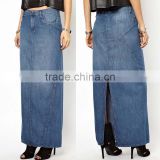 wholesale denim maxi skirt long blue jean skirts for women long jean skirts