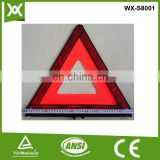 led panel red reflective warning triangle road traffic signs and symbols