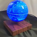 New customize wooden magnetic levitate floating globe with lighting