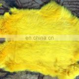 Factory wholesale tanned thick and soft raw or dyed large size genuine rabbit fur skin pelt