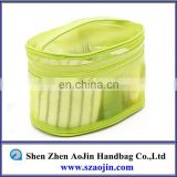 PVC semi-transparent plastic pouch with zipper loop