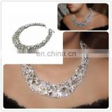 Aidocrystal handmade classic old hollywood style choker bridal crystal statement necklace for woman