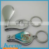 Promotional carbon steel Epoxy logo bottle opener scissors