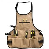 Professional heavy duty work apron with 14 tool pockets