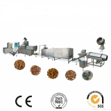 Double Screw Extruder Machine Corn Flour Material Stainless Steel Food Grade Pet Food Processing Line