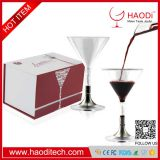 HD-XJ0009 Whiskey Glasses Cocktail Decanter Funnel Ultra Clear Crystal Scotch Glass Gift